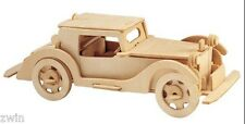 WOODEN ANTIQUE CAR gift for a man boy new under $25 free shipping toy kit Paypal