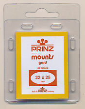 Prinz Scott Stamp Mounts Size 22/25 BLACK Background Pack of 40