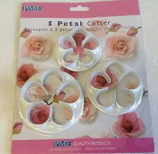 PME - 5 Petal Cutter Set of three - Cake Decorating and/or Craft