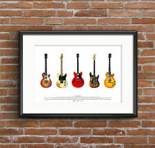 Famous Blues - Rock Guitars - ART POSTER A2 size