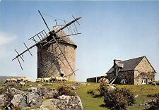 BR13221 Bretagne Vieux moulin mont dol wind mill moutons sheep  france