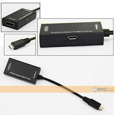 NEW 1080P Mini Micro USB MHL to HDMI Adapter Cable 150MM