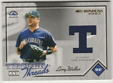 2002 DONRUSS TIMBER THREADS LARRY WALKER GAME-WORN USED JERSEY CARD  320/500
