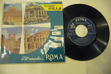 "CLAUDIO VILLA""I'LL REMEMBER ROMA /VERDE-disco 45 giri EP(4 brani) CETRA It 1960"""