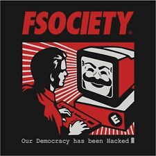 Mr Robot Logo Fsociety Democracy Hacked Mask Decal Logo Vinyl Sticker 4 Stickers