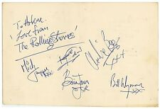 Rolling Stones Beatles Brian Jones Era Autographs Obtained by Mike McCartney