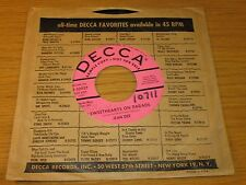 "PROMO COUNTRY 45 RPM - JEAN DEE- DECCA 30927 - ""SWEETHEARTS ON PARADE"""