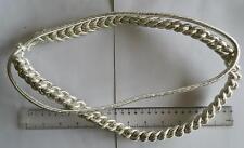 Fangschnur Adjudanten silbern Draht ohne Stifte neu (102-)