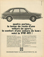 Publicité Advertising 1968  VOLKSWAGEN  la 411   VW vintage print AD