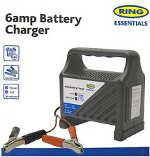 New RING AUTOMOTIVE 12v 6AMP CAR/VAN/BIKE COMPACT BATTERY CHARGER RCB6