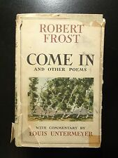 Come In And Other Poems, Robert Frost, SIGNED by Lesley Frost, 1943 1st Printing