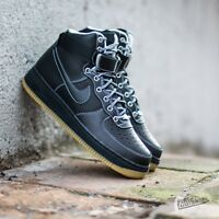 Men's NIKE Air Force 1 High 07 Leather Trainers - Size UK 8.5 / US 9.5 - Black