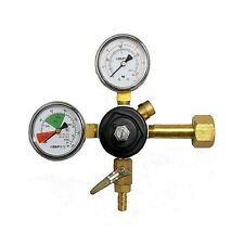 "Taprite CO2 Primary Regulator, Dual Gauge with 5/16"" Hose Barb - MADE IN USA"