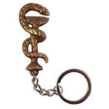 Schlüsselanhänger Äskulap Schlange mit Arzneischale Bronze Symbol der Apotheker