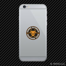 Orange Zombie Outbreak Response Team Cell Phone Sticker Mobile hunting us