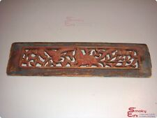 Antique Multi-Color Chinese Wooden Scene Panel Carving