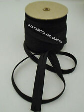 """100 Yards BLACK Bias Tape 1/2"""" EXTRA WIDE Double Fold WHOLESALE"""