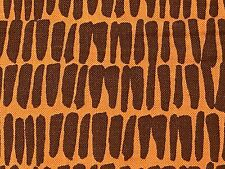 Fabric African Hut Roof Thatch Straw Brown on Cotton by the 1/4 yard BIN