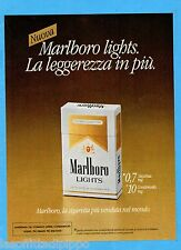 QUATTROR982-PUBBLICITA'/ADVERTISING-1982- MARLBORO LIGHTS