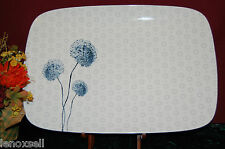 "Lenox Simply Fine Watercolor Indico Blue Rectangular Serving Platter 16"" 1stQ"