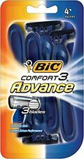 4 Pack - Bic Comfort 3 Advance Shavers for Men 4 Each