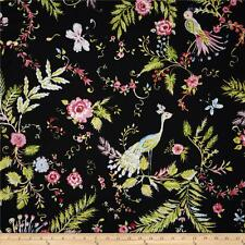 By 1/2 Yard Free Spirit Bird Fabric ~ Chinoiserie Chic Birdsong ~ Dena Designs