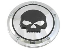 Chrome Skull 5-Hole Derby Cover for 1999-2015 Harley Softail Dyna Touring