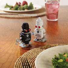 Salt and Pepper Wind-Up Novelty Robot Pots - Cool Christmas Gift