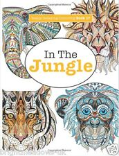 Jungle Forest Animals Adult Colouring Book Creative Art Therapy Relaxing Tiger