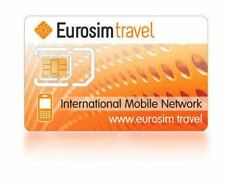 "NO TERM INTERNATIONAL ROAMING PREPAID SIM CARD ""EUROSIM TRAVEL"" AIRTIME 10 USD"