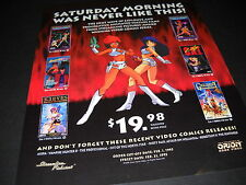 DIRTY PAIR Lily C.A.T. GREAT CONQUEST etc SATURDAY MORNINGS - NEVER! Promo Ad