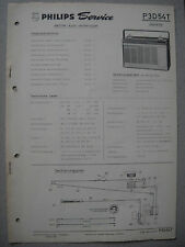 Philips P3D54T Jeanette Kofferradio Service  Manual Ausgabe 02/65