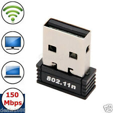 Wireless 150Mbps USB Adapter WiFi 802.11b/g/n Dongle 150M Mini Network Lan Card