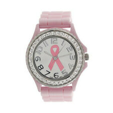 New from UK Seller! Ladies Pink Ribbon Watch - Breast Cancer Symbol, Race4life?