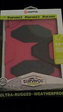 Brand New Griffin Ipad Mini, Ipad 2, Ipad 3 pink Survivor case