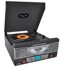 NEW Bluetooth Record Player Turntable Stereo w/ AUX Input..MP3.Built in Speaker.