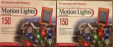 150 Multi Function Motion Lights Indoor Outdoor Color Christmas 2 New Boxes