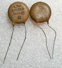 10pcs 5kV 4700pF Ceramic Capacitor