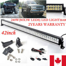 42 inch 240W LED Work Light  Bar Flood &Spot Combo Beam Jeep 40 Offroad 4WD SUV