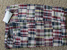 NEW GEOFFREY BEENE PLAID REVERSIBLE SHORTS MENS 38 REVERSES TO NAVY FREE SHIP