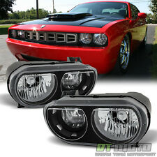 2008-2014 Dodge Challenger SE R/T Replacement Headlights Headlamps Left+Right