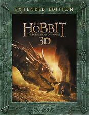 Hobbit Desolation Of Smaug Extended Edition BoxSet 3D 2D Blu Ray Digital Copy