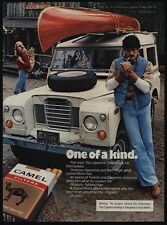 1978 CAMEL MAN Smokes Cigarettes By LAND ROVER & Canoe & Pretty Woman VINTAGE AD