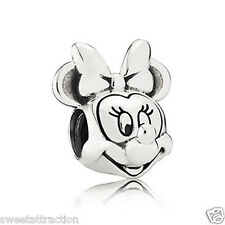 New Authentic Pandora 791587 Disney Minnie Portrait Charm Box Included