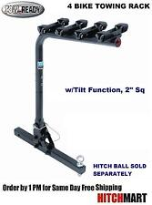 "TOWABLE 4 BIKE CARRIER w/ TILT FUNCTION FOR 2"" Sq. TRAILER HITCH MOUNT  63125"