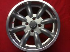SET 4 SILVER POLISHED RIM 6 x 14 ALLOY WHEELS MAZDA MX5 MK1 VW GOLF MK1 MINILITE