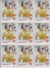 (9) 2014 TOPPS OLYMPIC ASHLEY WAGNER CARD #89 LOT ~ FIGURE SKATING