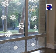 Christmas Snow Flakes Removable Art Vinyl Window Door Shop Sticker Wall Decor