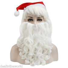 Adult Santa Claus Christmas Big Wig Beard Hat Kit Costume Accessory Fancy Dress