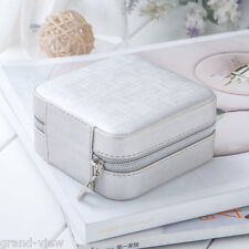 Small Faux Leather Travel Jewelry Box Easy Portable Gift Storage Organizer Case